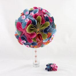 Bouquet mariee origami personnalisé «japon»