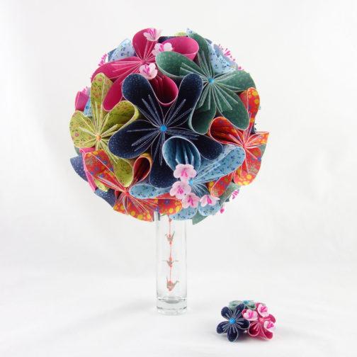 bouquet de mariée origami soligami
