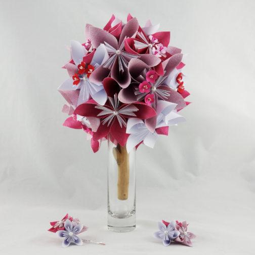 bouquet mariee japon papier origami soligami