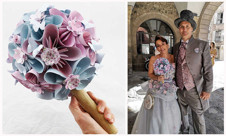 bouquet mariee champetre chic soligami