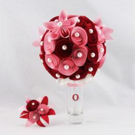 Bouquet de mariée papier personnalisé