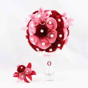 bouquet mariee papier origami soligami