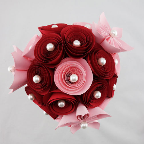 bouquet mariee papier origami soligami