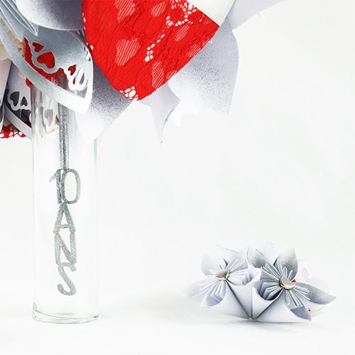 bouquet renouvellement voeux personnalise origami