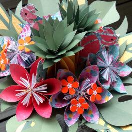 Bouquet de mariée exotique tropical