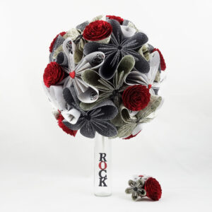 bouquet mariee papier rock