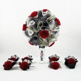 Bouquet de mariée rock et accessoires