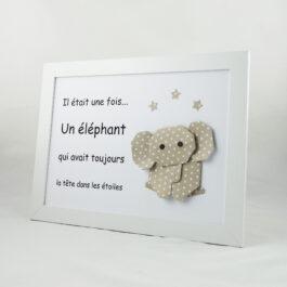 Cadre bébé garçon éléphant
