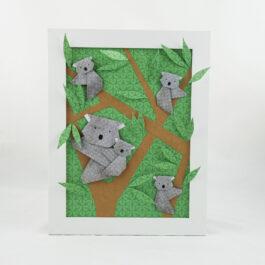 Cadre origami animaux koala