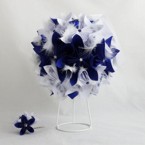 bouquet mariage boule bleu