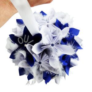 bouquet mariee bleu rond boule