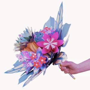 bouquet mariee tropical exotique papier