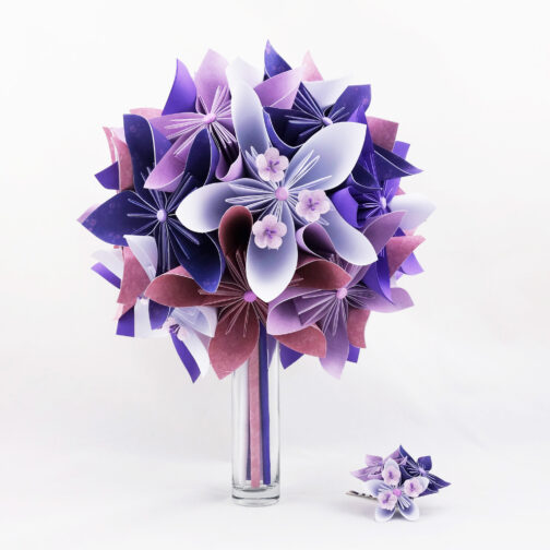bouquet-mariee-personnalise-papier-origami-violet-soligami-2
