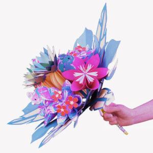bouquet de mariee tropical exotique papier origami