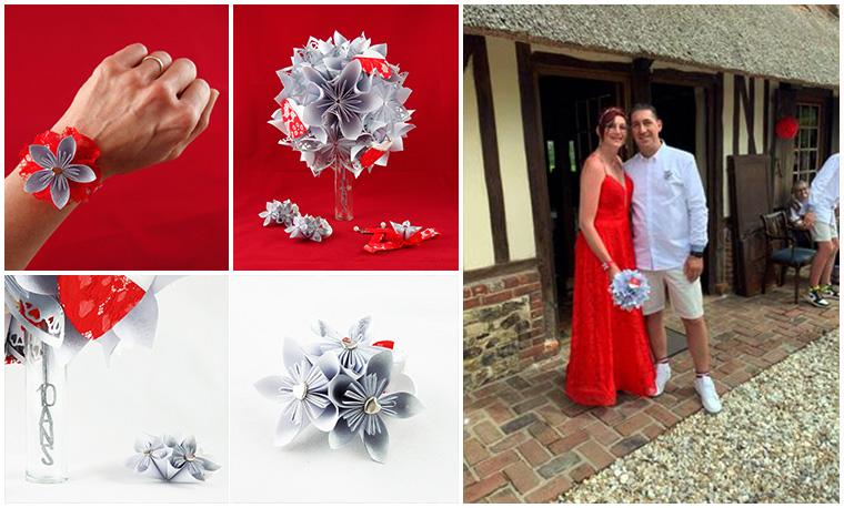avis prestataire mariage bouquet rouge blanc original