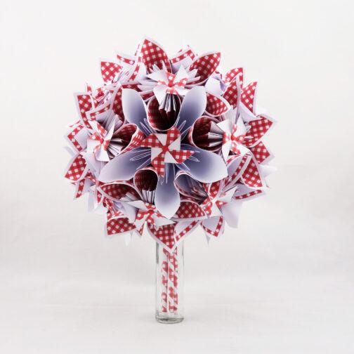 bouquet mariee guinguette rouge et blanc