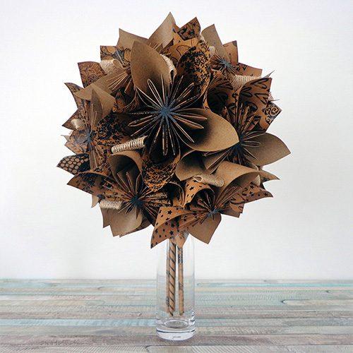 bouquet artificiel champetre