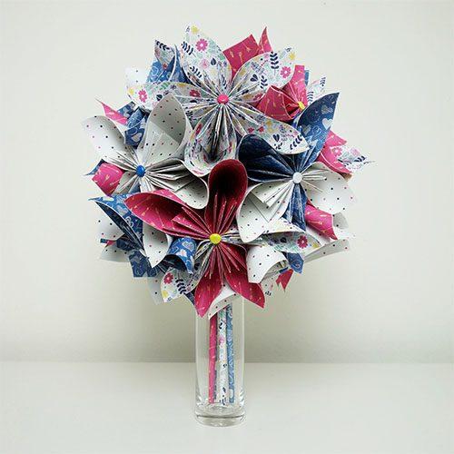 bouquet fleurs artificielles