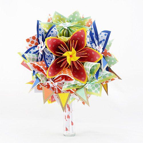 bouquet mariage multicolore