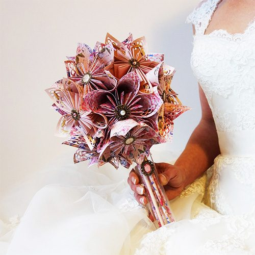 bouquet mariage origami