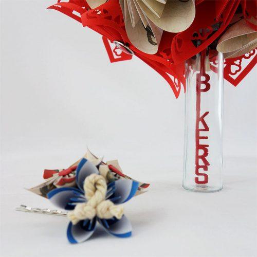 bouquet mariage papier