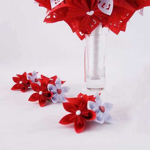 bouquet mariage rouge