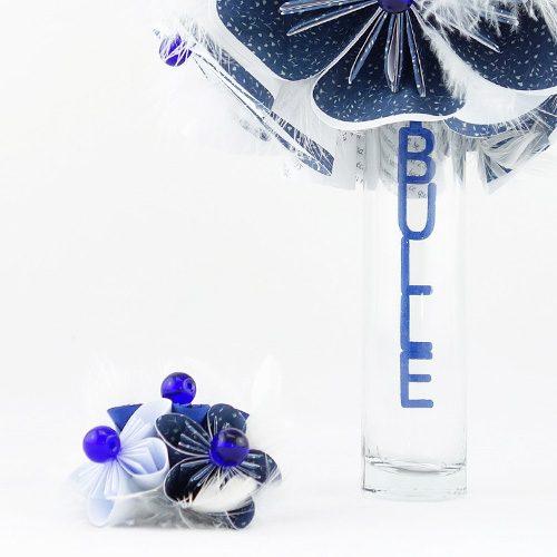 bouquet mariee bleu papier origami