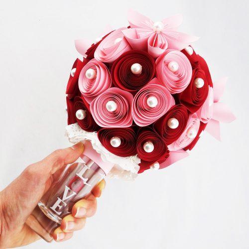 bouquet mariee fleurs papier