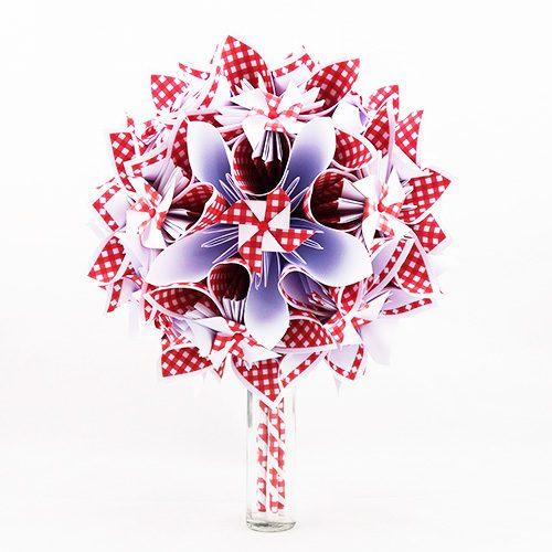 bouquet mariee guinguette champetre rouge et blanc