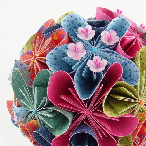 bouquet de mariée japonais papier origami