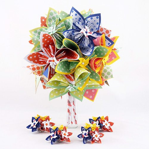 bouquet mariée multicolore