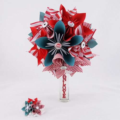 bouquet mariee origami