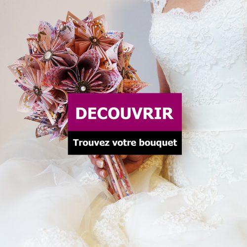 bouquet de mariage original en origami