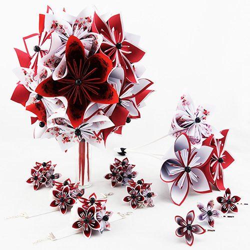 bouquet mariee original papier origami