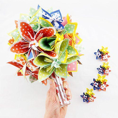 bouquet mariée rond multicolore