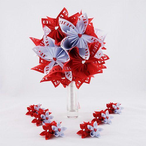 bouquet mariee rouge