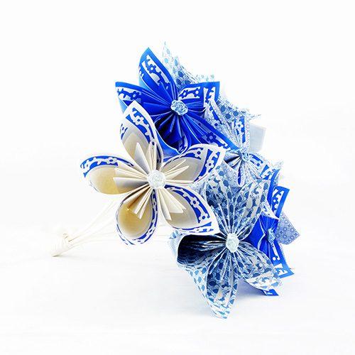 bouquet origami à lancer