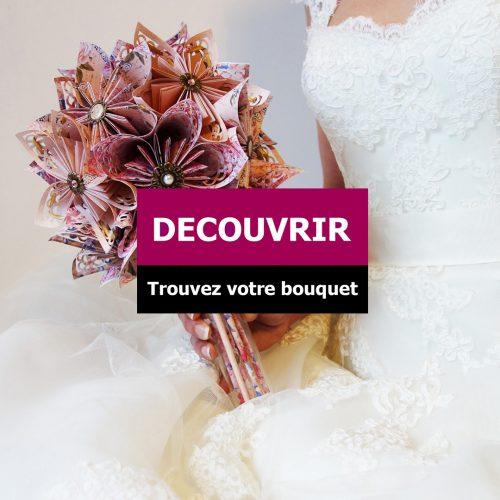 bouquet de mariage en origami
