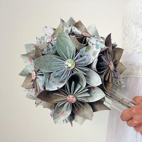 bouquet origami mariage