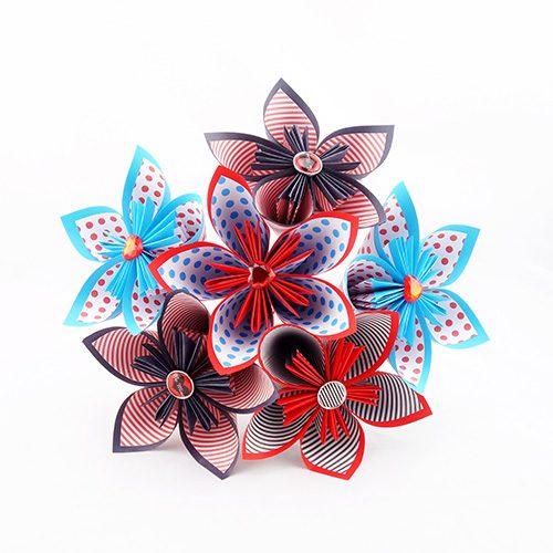 bouquet origami à jeter