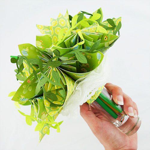 bouquet tropical artificiel