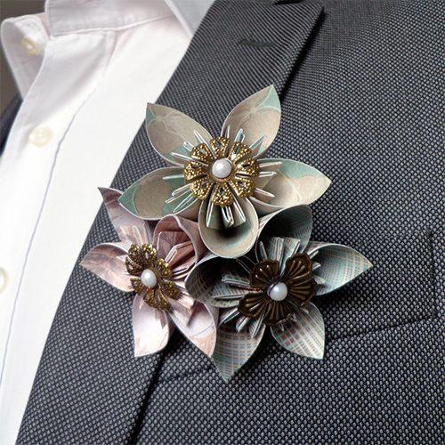 boutonnière costume mariage
