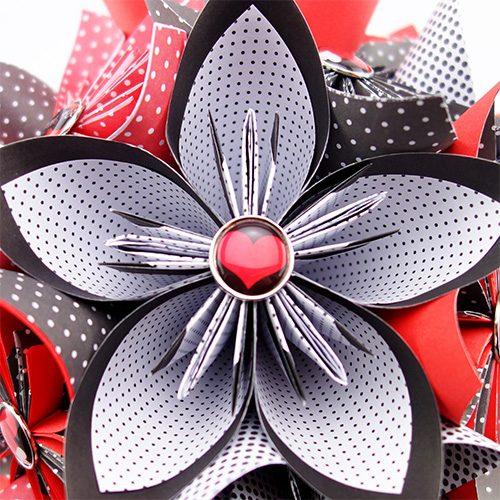 origami bouquet fleurs