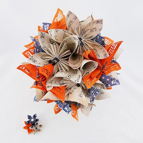 origami bouquet mariage