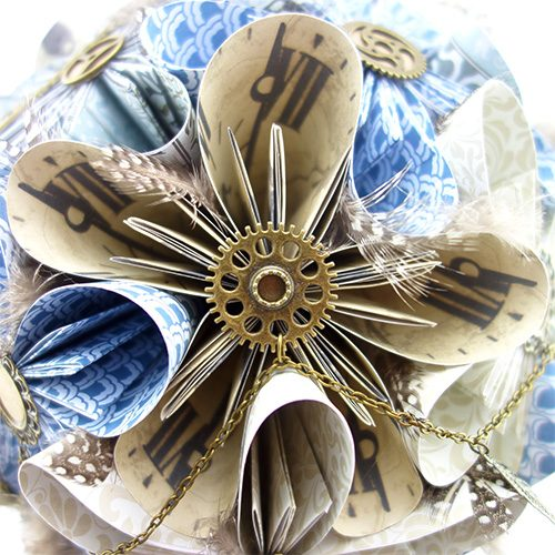 origami bouquet mariée