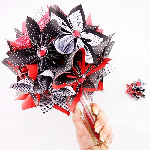 origami bouquet de mariée