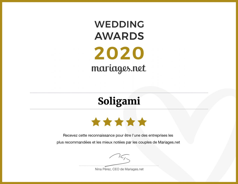 Wedding Awards 2020 Soligami